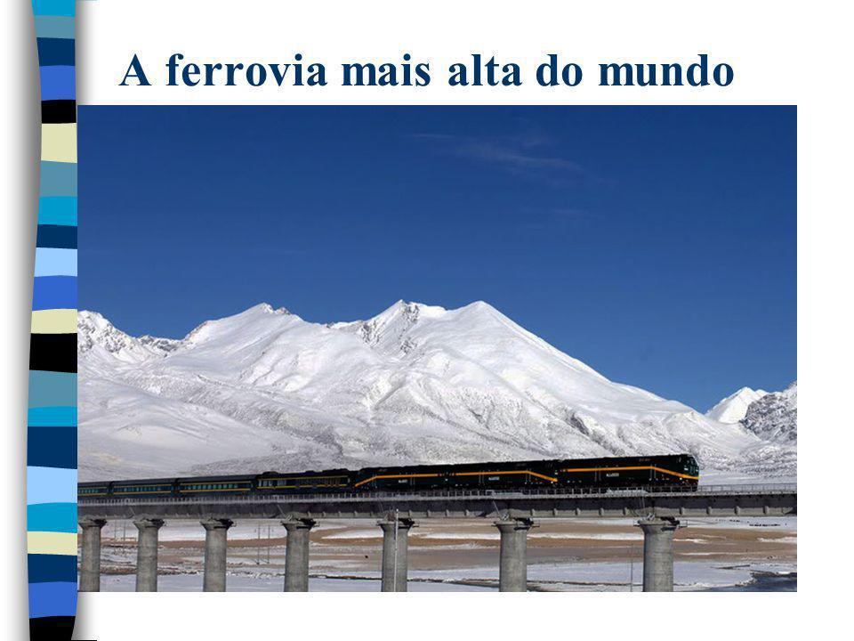 A ferrovia mais alta do mundo
