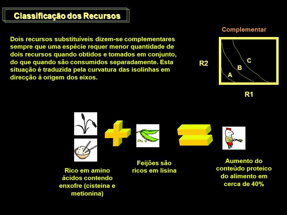 + = Classificação dos Recursos R2 R1 Complementar