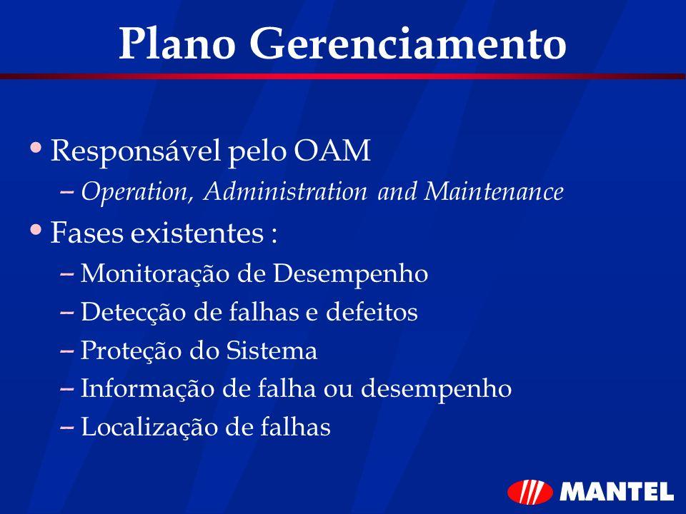 Plano Gerenciamento Responsável pelo OAM Fases existentes :