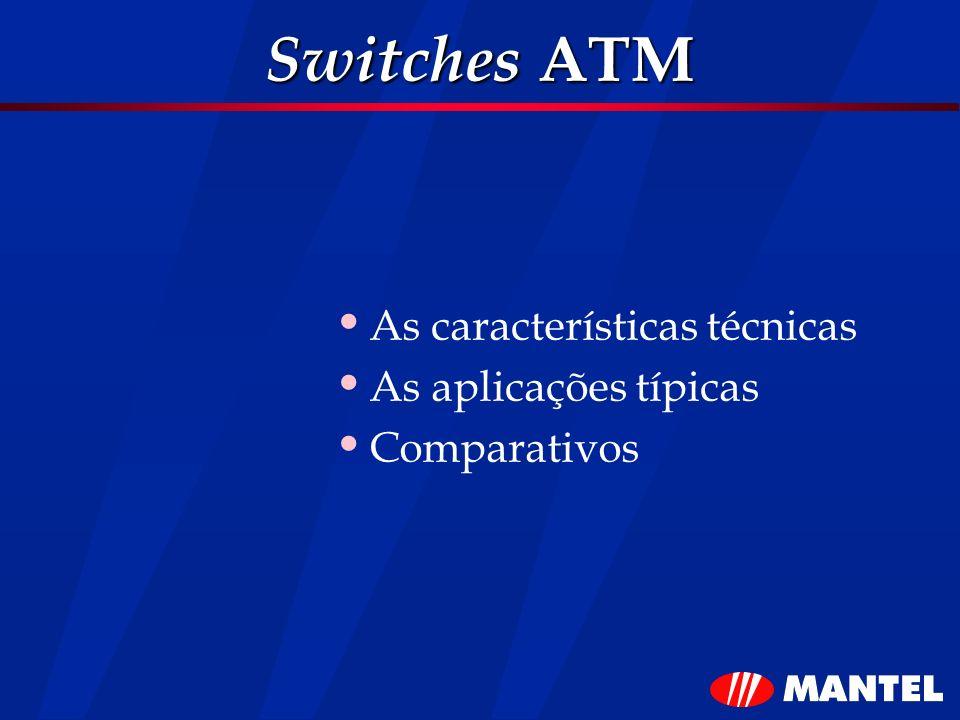 Switches ATM As características técnicas As aplicações típicas