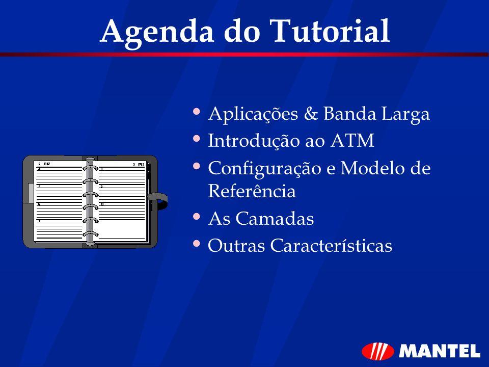 Agenda do Tutorial Aplicações & Banda Larga Introdução ao ATM