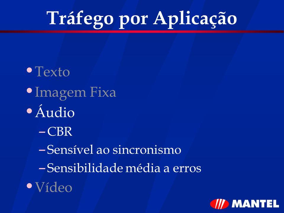 Tráfego por Aplicação Texto Imagem Fixa Áudio Vídeo CBR