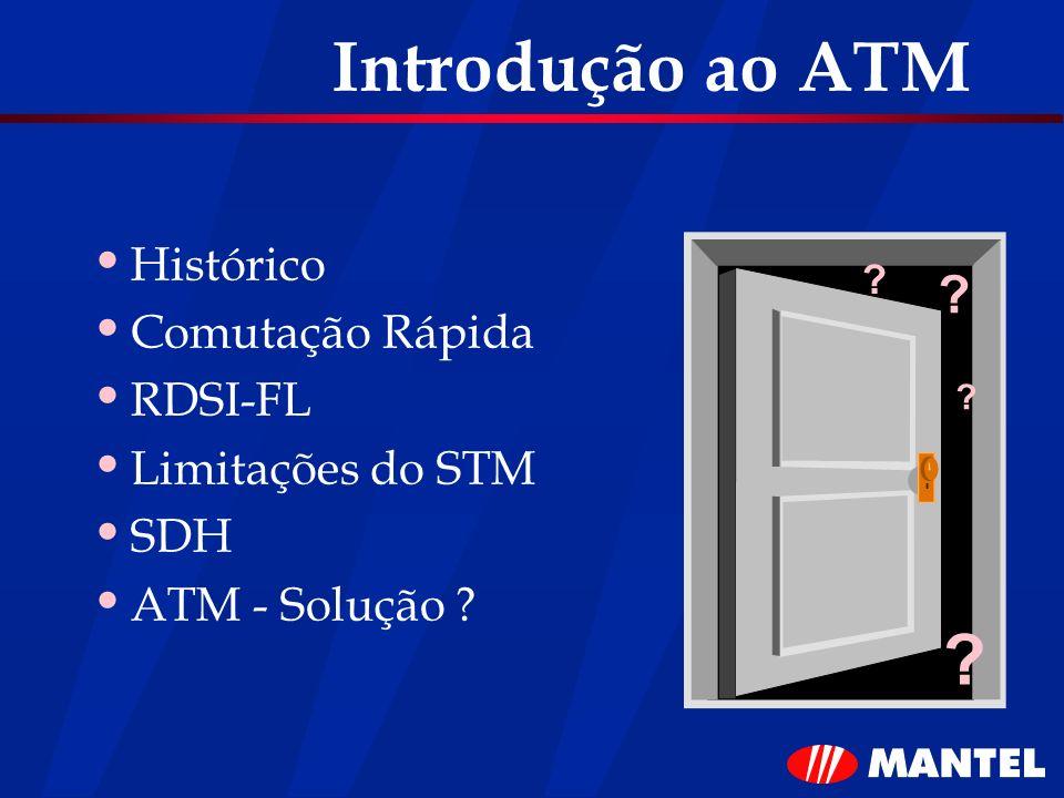 Introdução ao ATM Histórico Comutação Rápida RDSI-FL