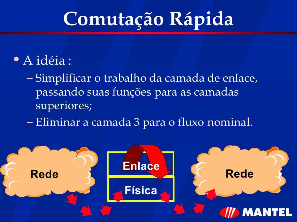 Comutação Rápida A idéia :