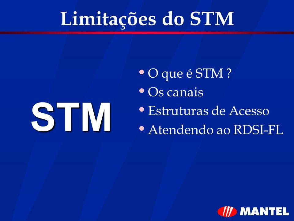 STM Limitações do STM O que é STM Os canais Estruturas de Acesso