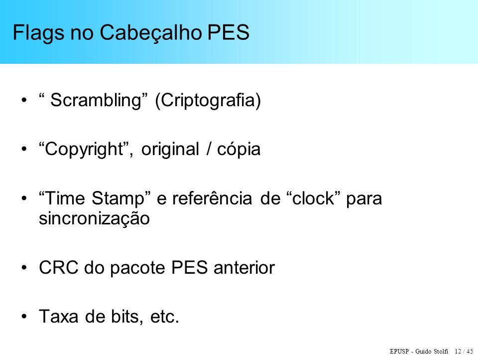 Flags no Cabeçalho PES Scrambling (Criptografia)