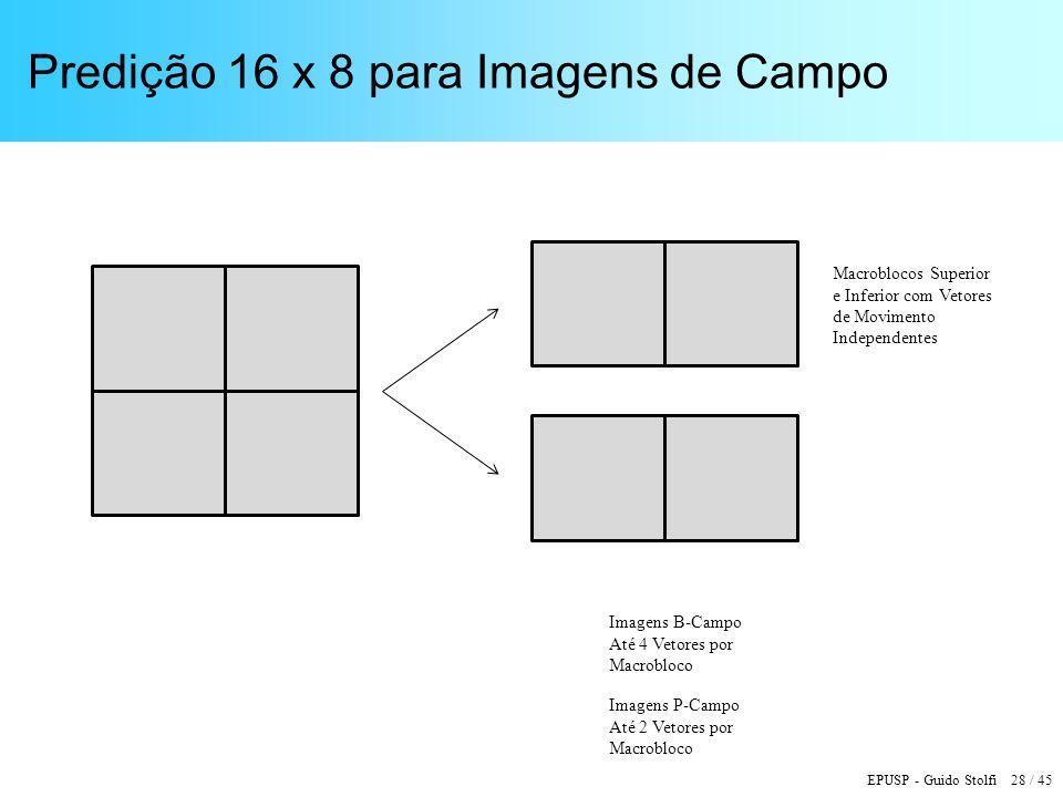Predição 16 x 8 para Imagens de Campo