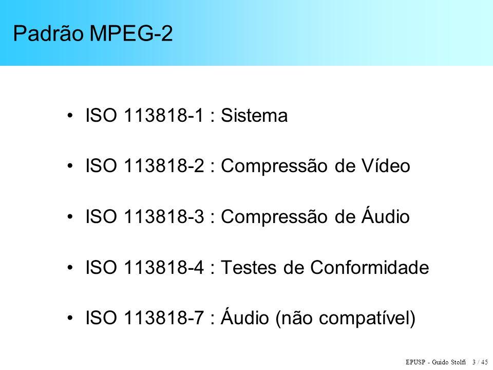 Padrão MPEG-2 ISO 113818-1 : Sistema