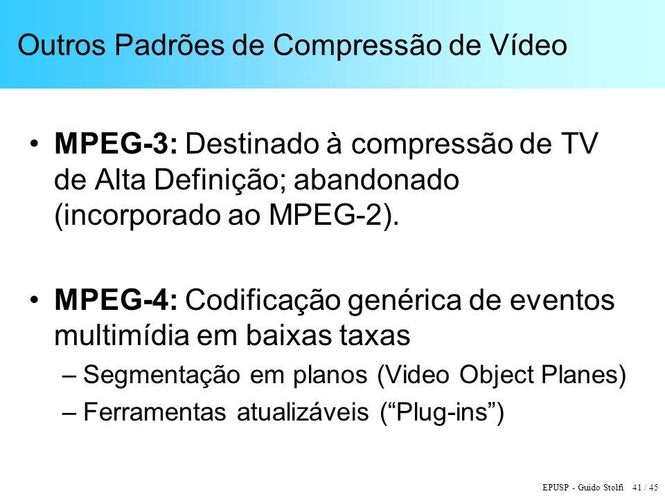 Outros Padrões de Compressão de Vídeo
