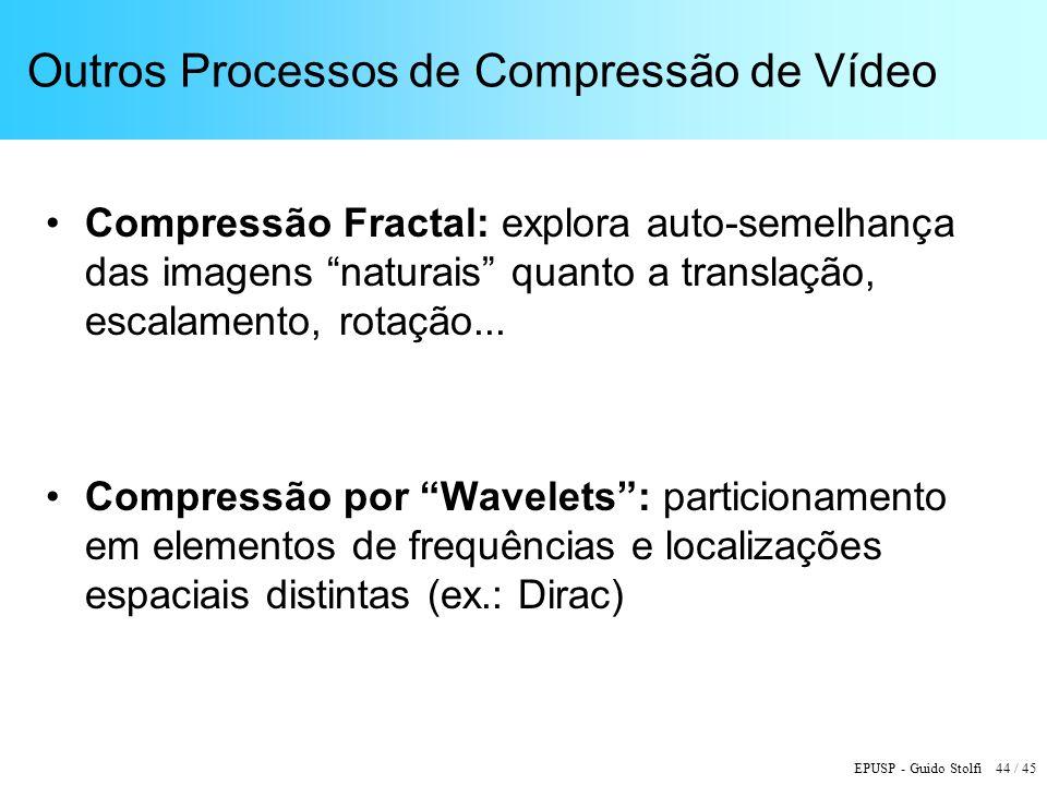 Outros Processos de Compressão de Vídeo
