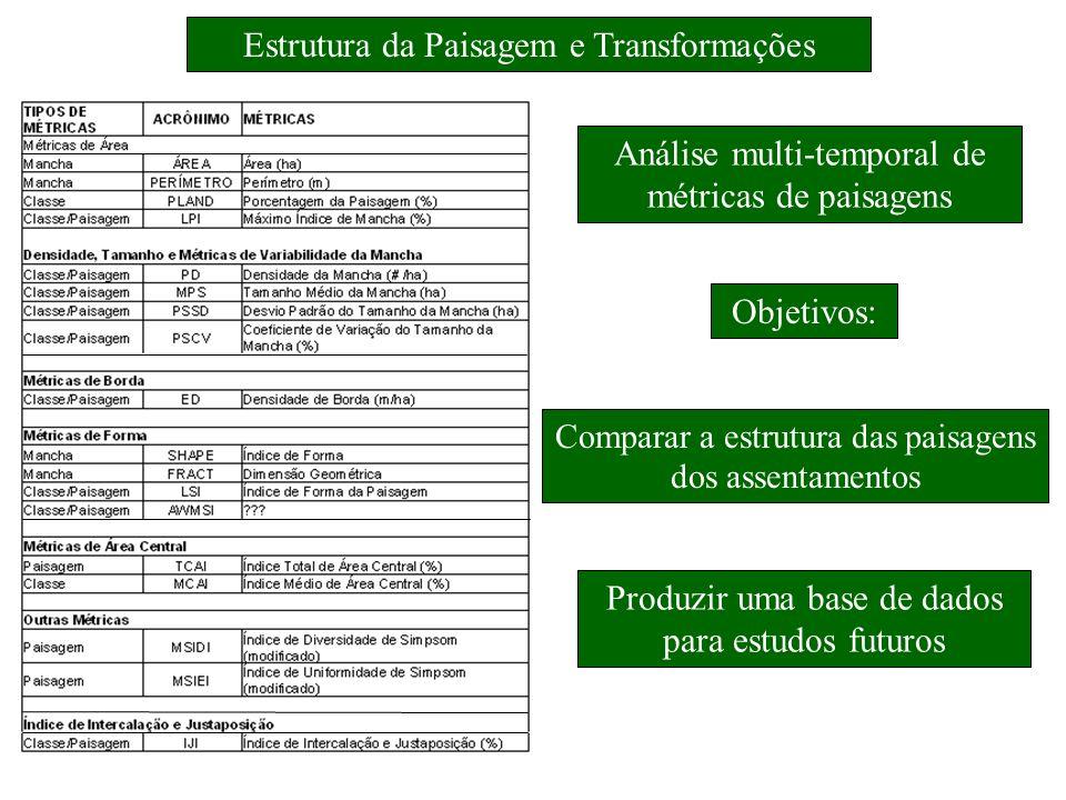 Estrutura da Paisagem e Transformações