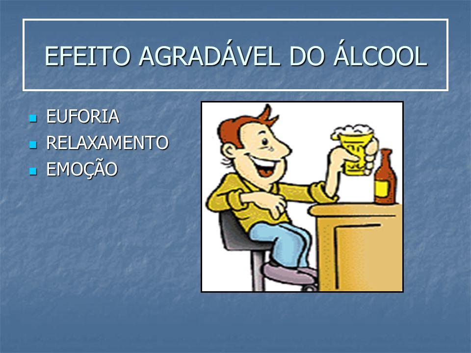 EFEITO AGRADÁVEL DO ÁLCOOL