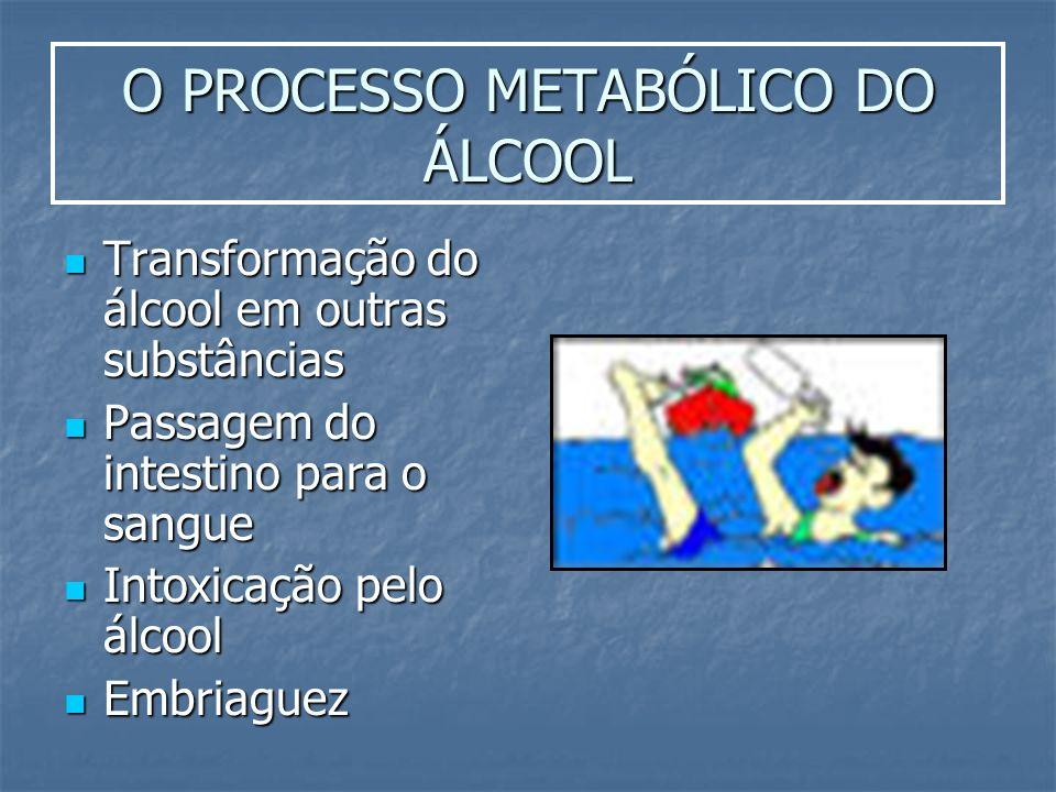 O PROCESSO METABÓLICO DO ÁLCOOL