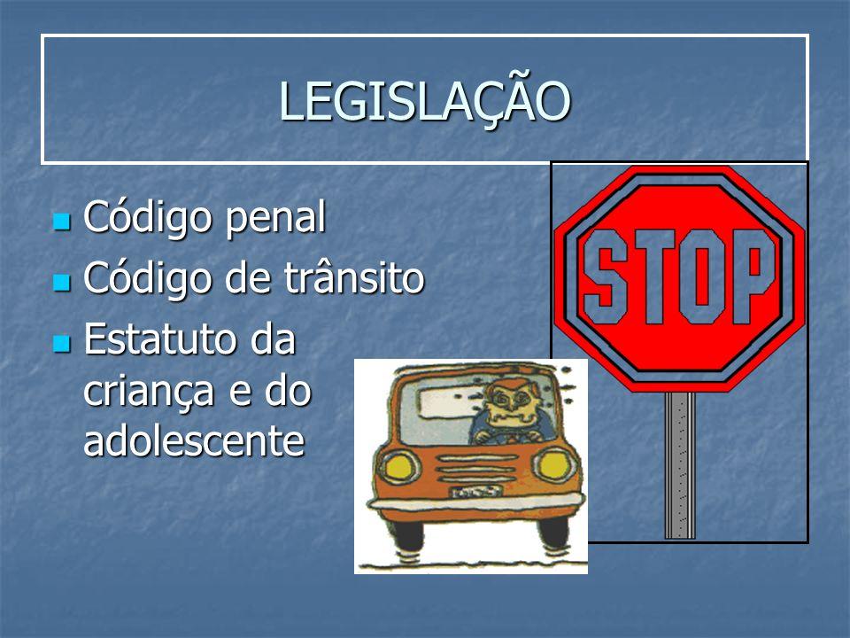 LEGISLAÇÃO Código penal Código de trânsito
