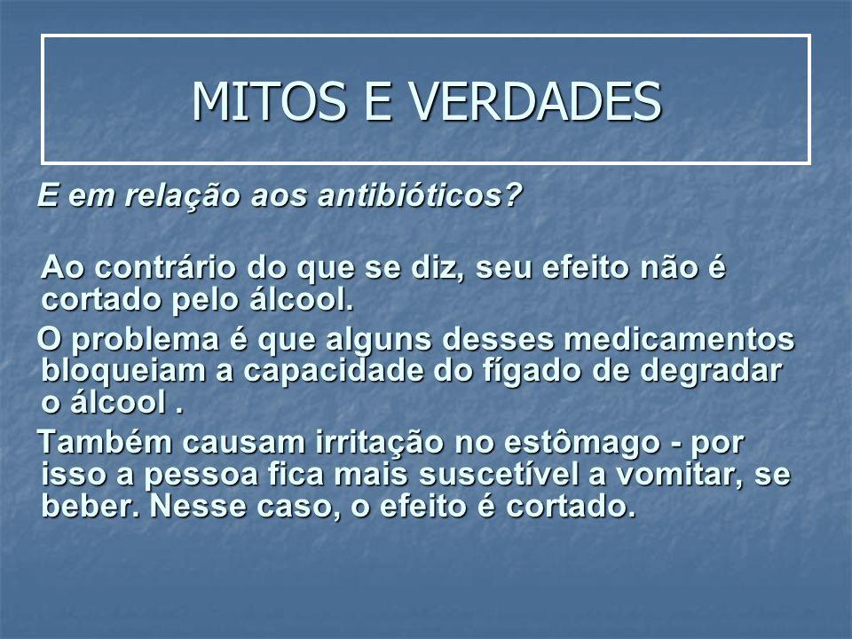 MITOS E VERDADES E em relação aos antibióticos