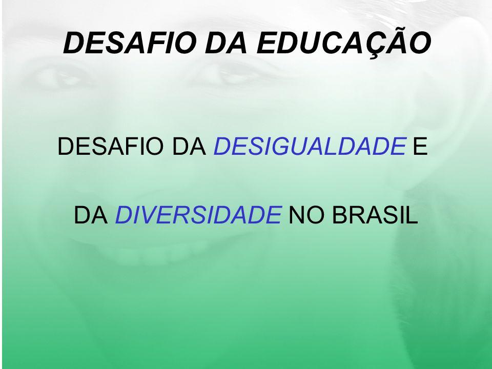 DESAFIO DA EDUCAÇÃO DESAFIO DA DESIGUALDADE E DA DIVERSIDADE NO BRASIL