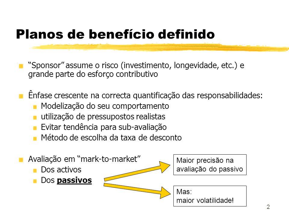 Planos de benefício definido