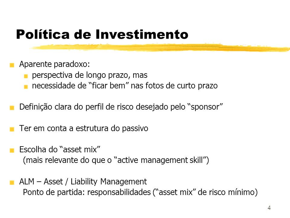Política de Investimento