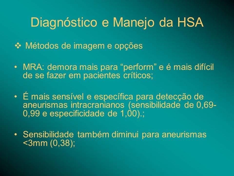 Diagnóstico e Manejo da HSA
