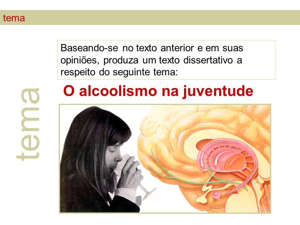 tema O alcoolismo na juventude tema