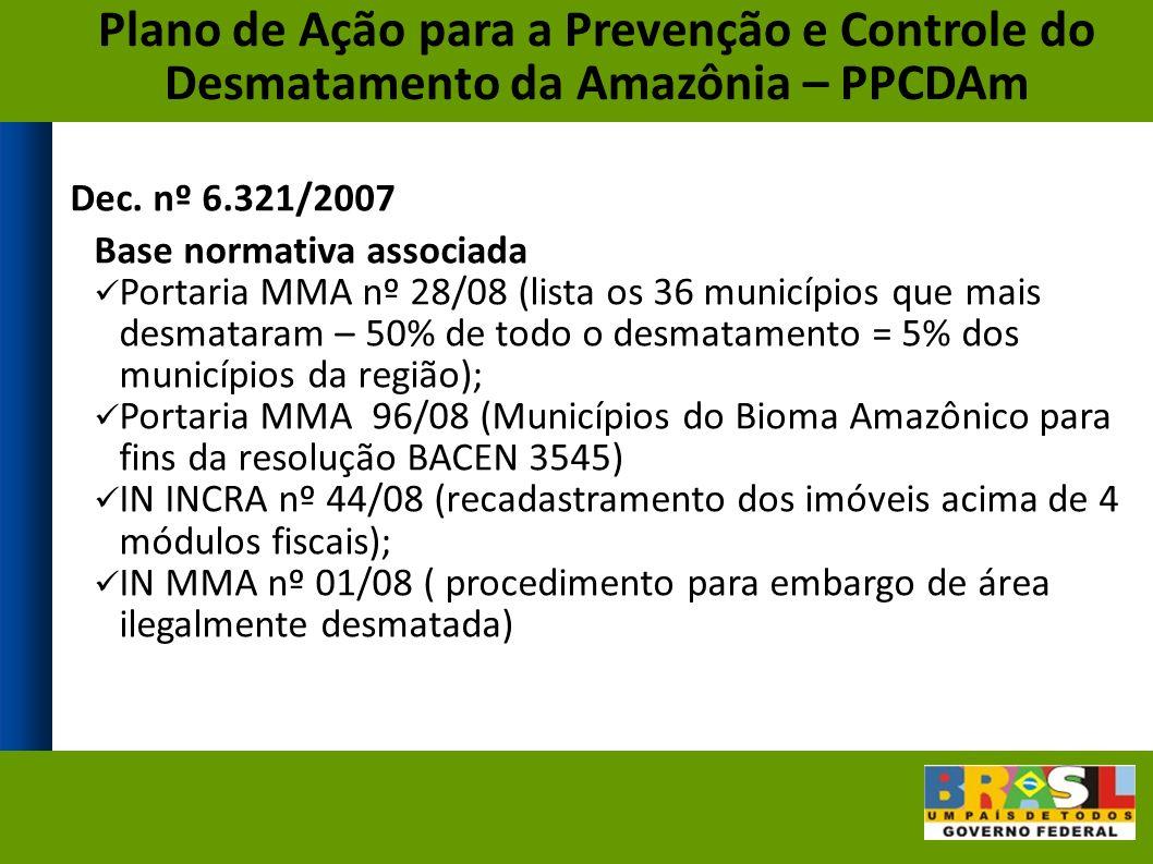 Plano de Ação para a Prevenção e Controle do Desmatamento da Amazônia – PPCDAm