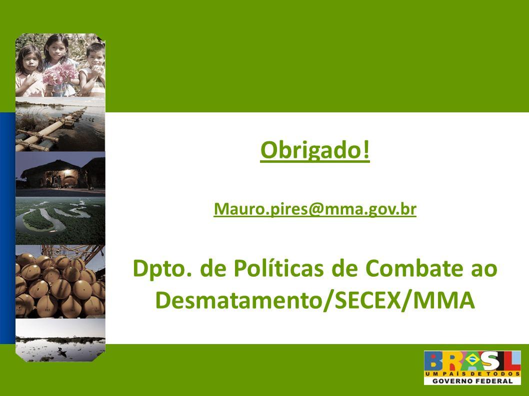 Dpto. de Políticas de Combate ao Desmatamento/SECEX/MMA