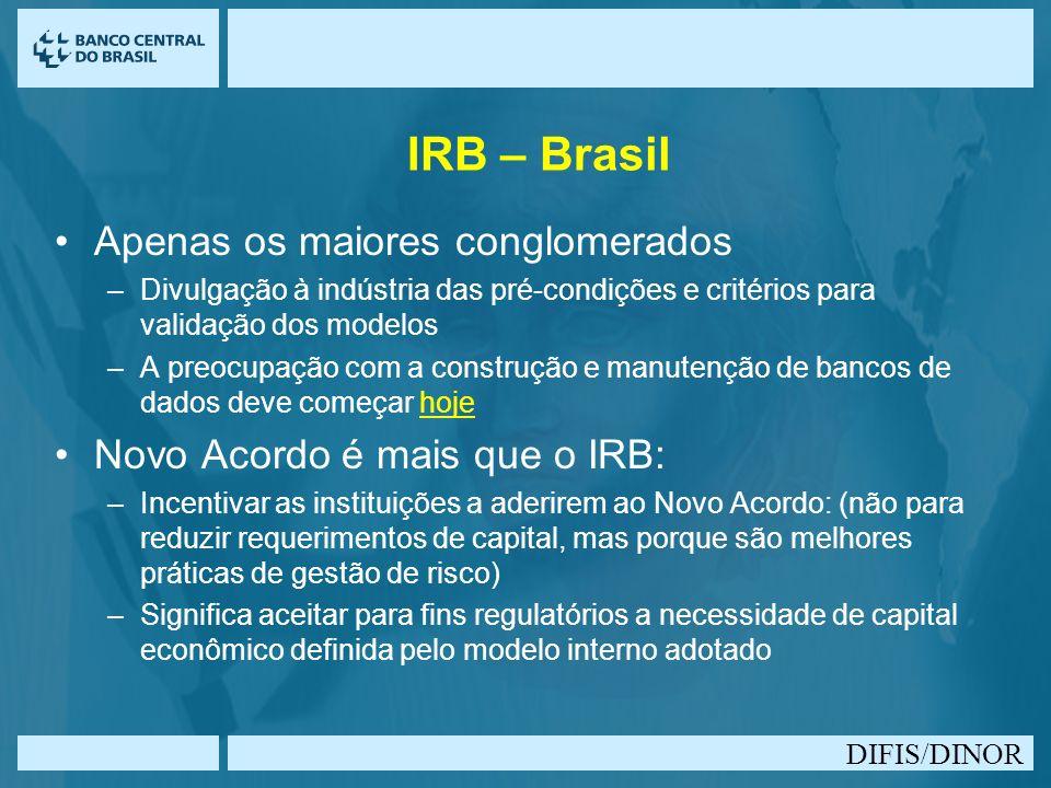 IRB – Brasil Apenas os maiores conglomerados