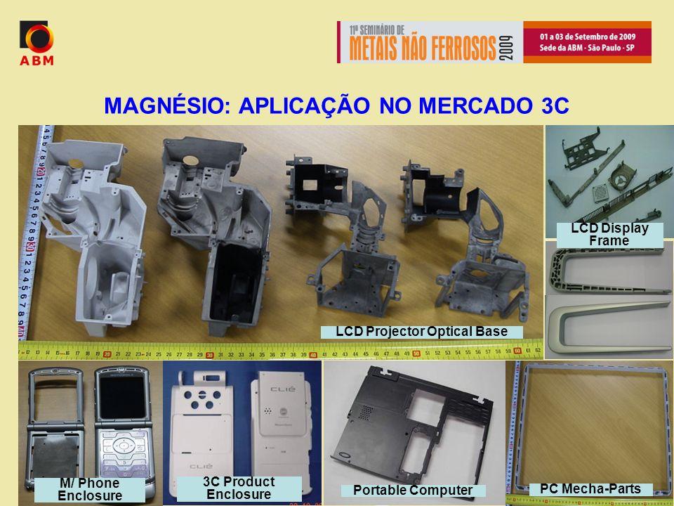 MAGNÉSIO: APLICAÇÃO NO MERCADO 3C LCD Projector Optical Base