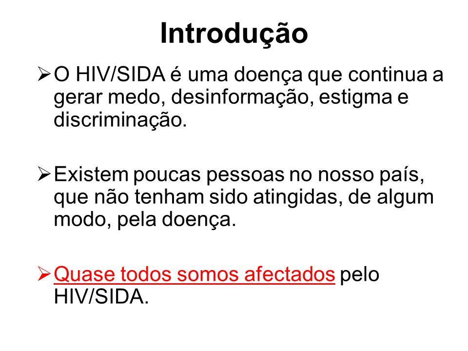 Introdução O HIV/SIDA é uma doença que continua a gerar medo, desinformação, estigma e discriminação.