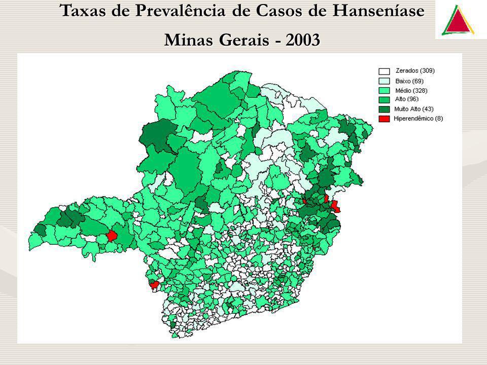 Taxas de Prevalência de Casos de Hanseníase