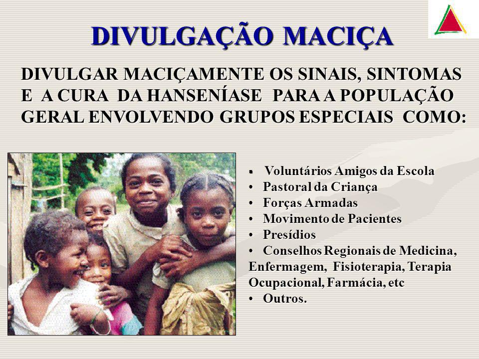 DIVULGAÇÃO MACIÇA DIVULGAR MACIÇAMENTE OS SINAIS, SINTOMAS