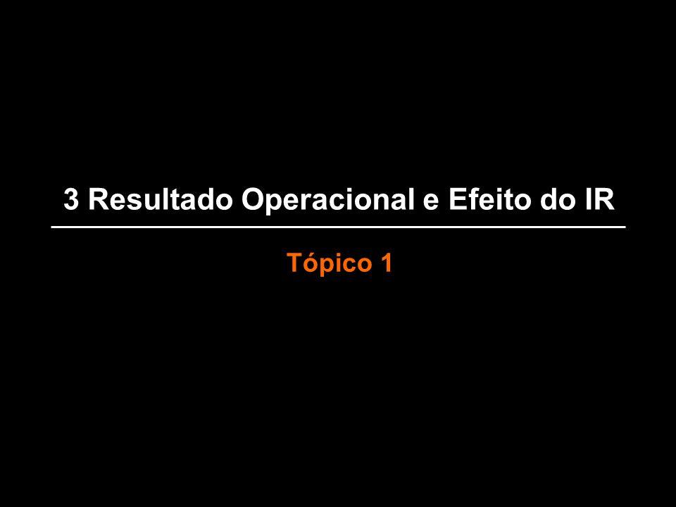3 Resultado Operacional e Efeito do IR