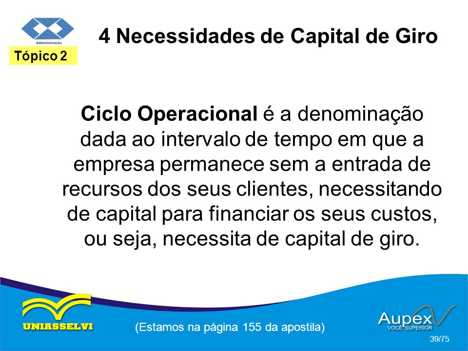 4 Necessidades de Capital de Giro