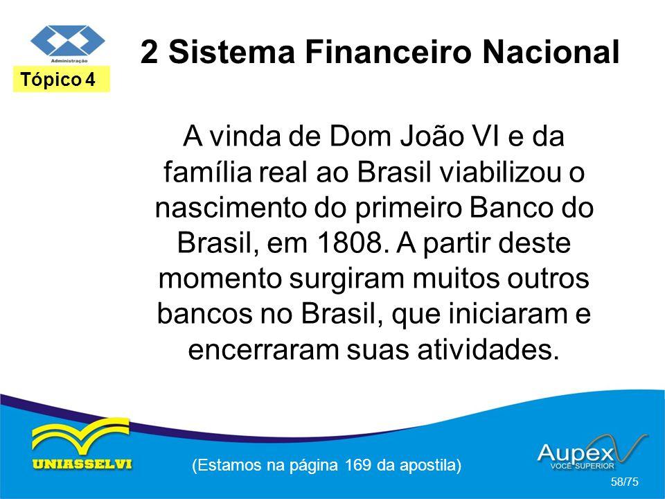2 Sistema Financeiro Nacional