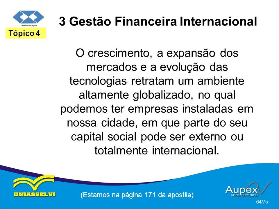 3 Gestão Financeira Internacional