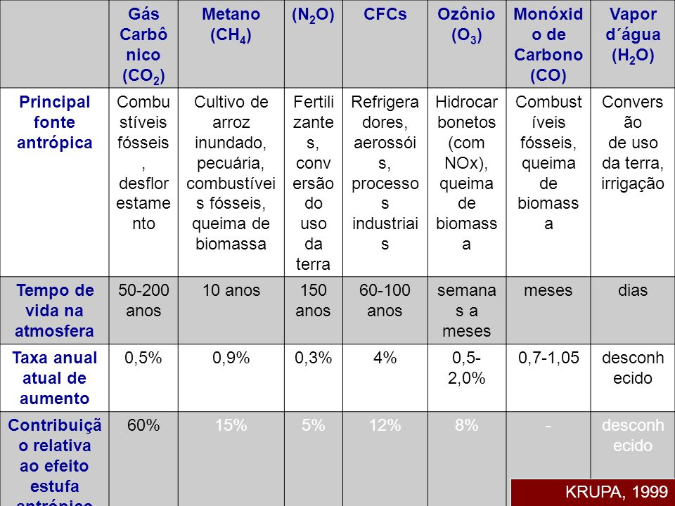 Monóxido de Carbono(CO) Vapor d´água (H2O)