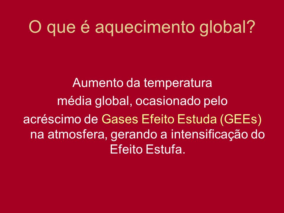 O que é aquecimento global