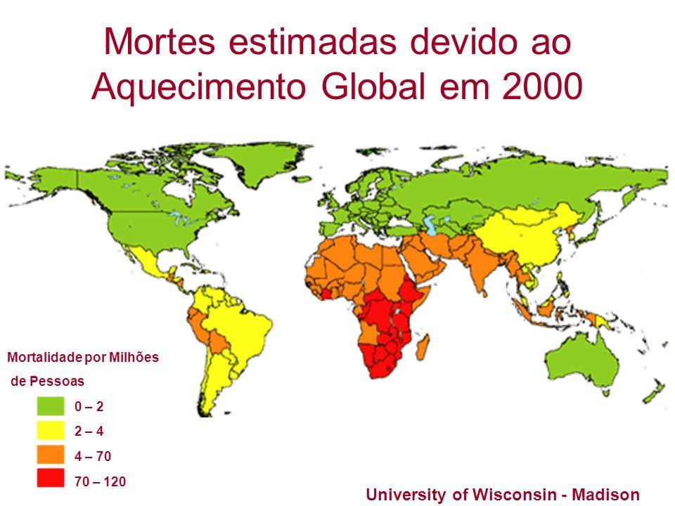 Mortes estimadas devido ao Aquecimento Global em 2000