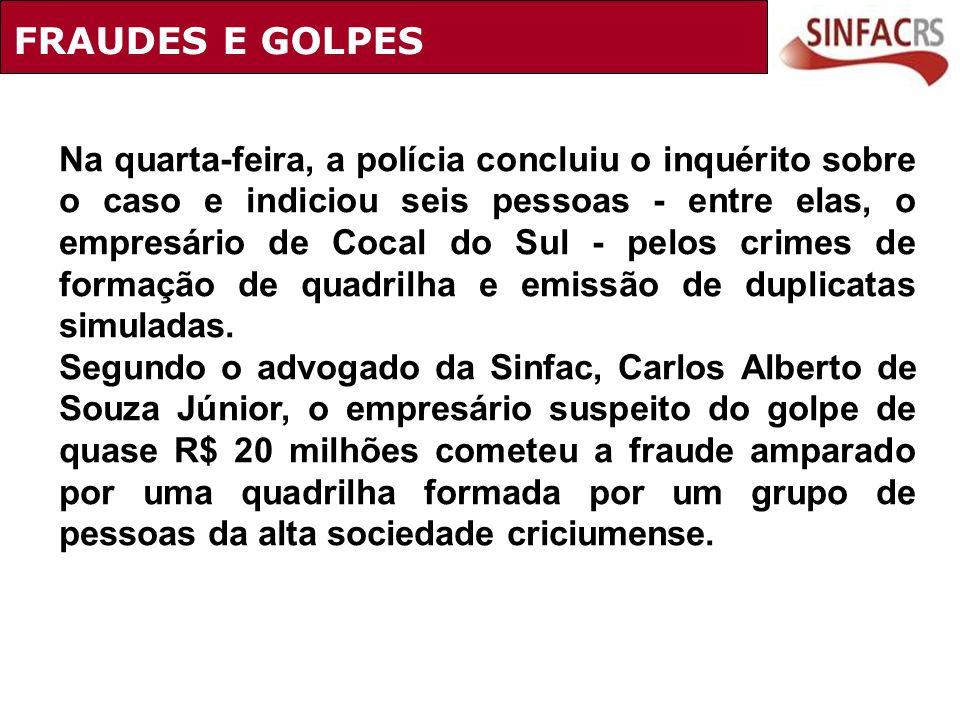 FRAUDES E GOLPES