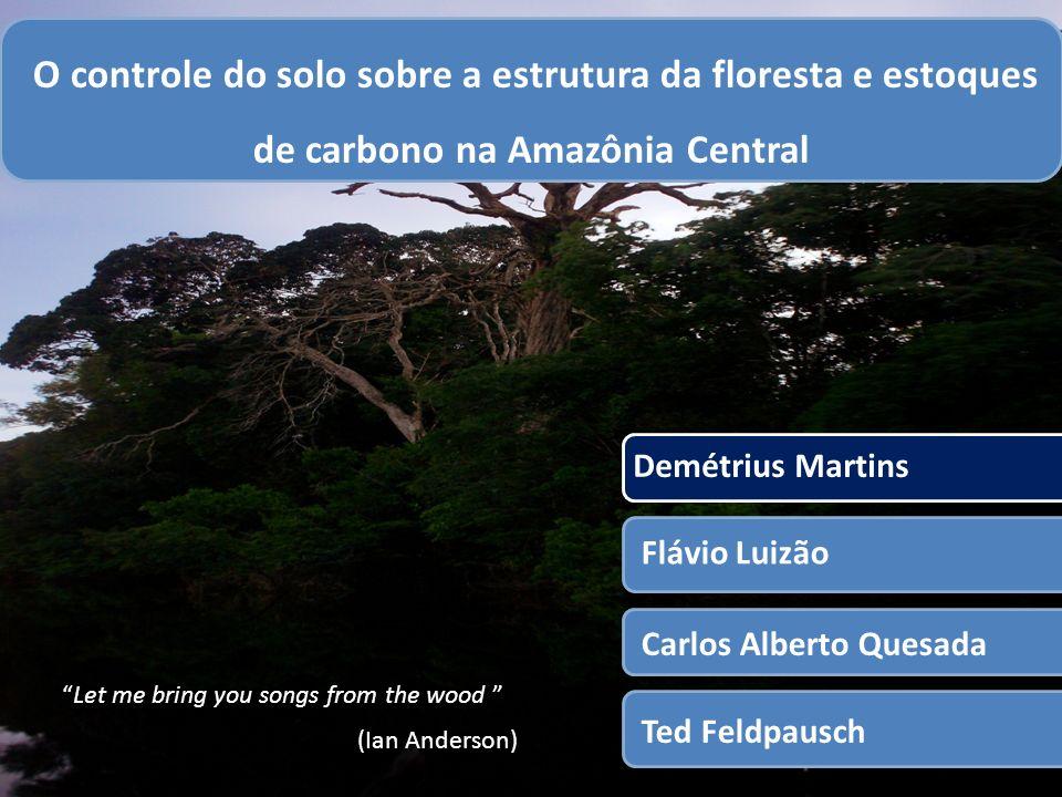 1 O controle do solo sobre a estrutura da floresta e estoques de carbono na Amazônia Central. Demétrius Martins.