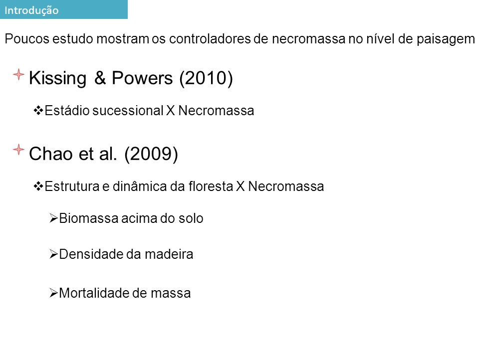 Kissing & Powers (2010) Chao et al. (2009) 5