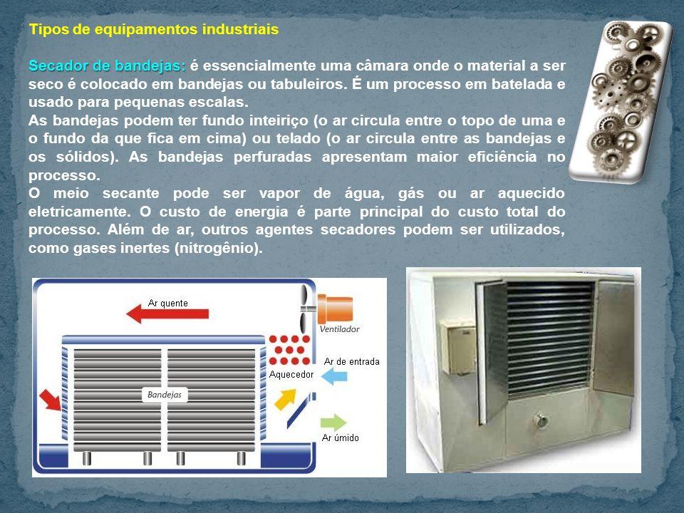Tipos de equipamentos industriais