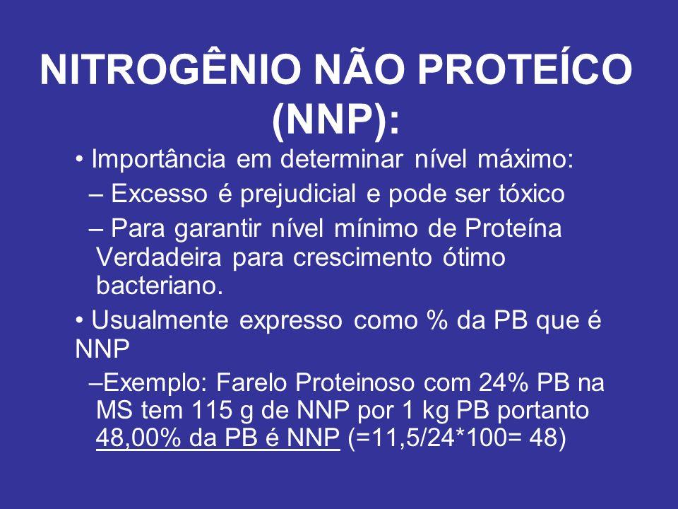 NITROGÊNIO NÃO PROTEÍCO (NNP):