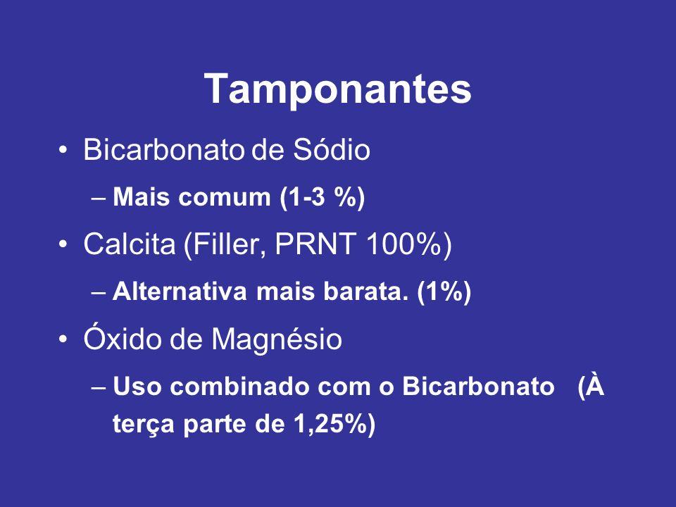 Tamponantes Bicarbonato de Sódio Calcita (Filler, PRNT 100%)
