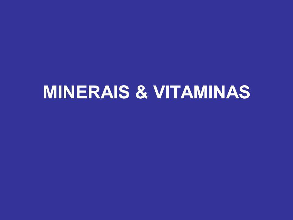 MINERAIS & VITAMINAS