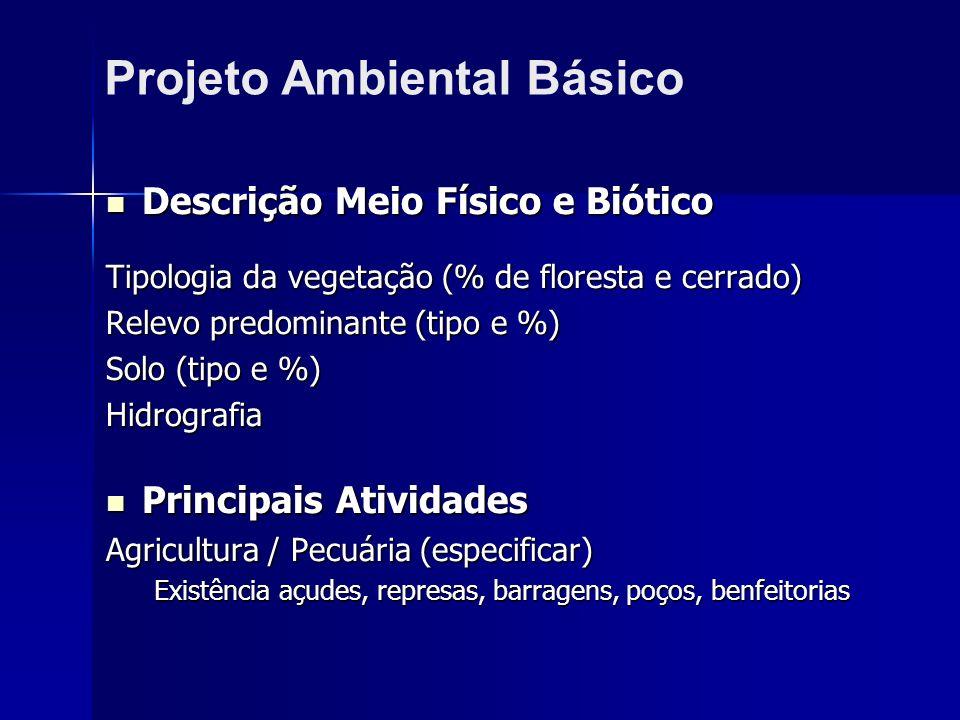 Projeto Ambiental Básico
