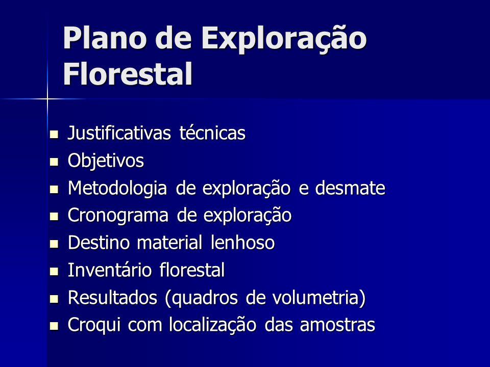 Plano de Exploração Florestal