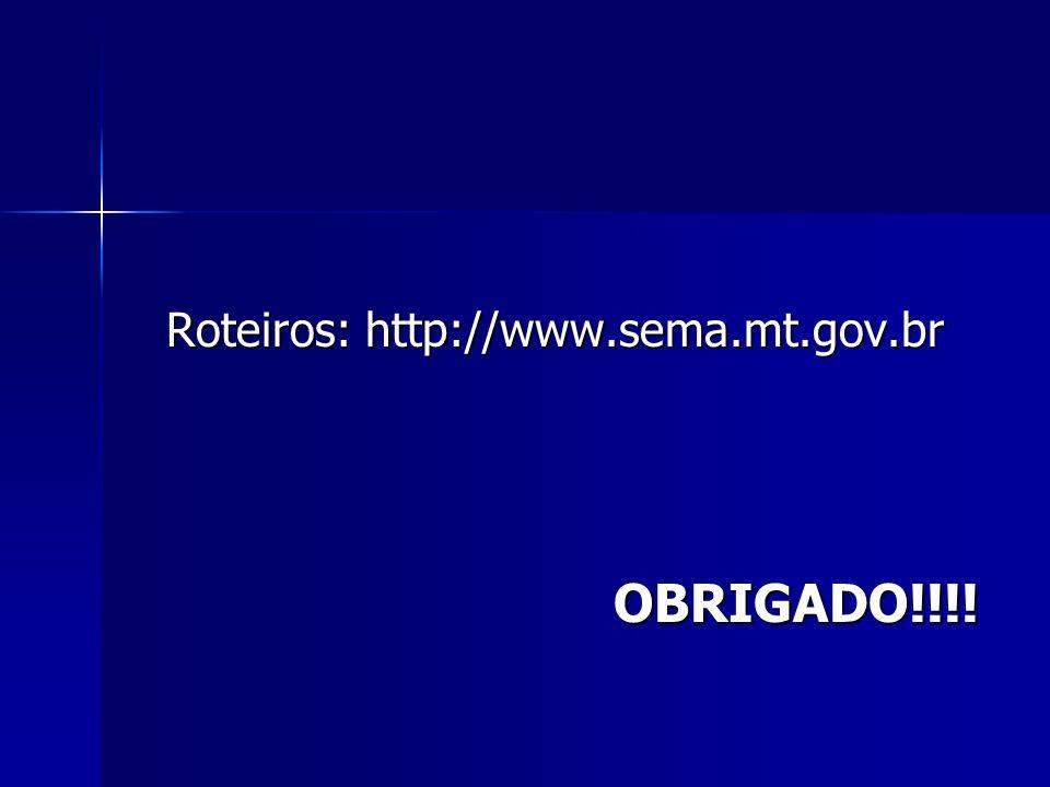 Roteiros: http://www.sema.mt.gov.br