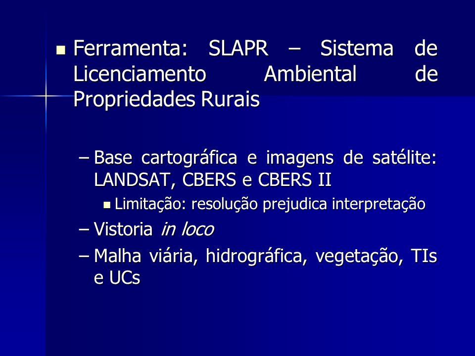 Ferramenta: SLAPR – Sistema de Licenciamento Ambiental de Propriedades Rurais