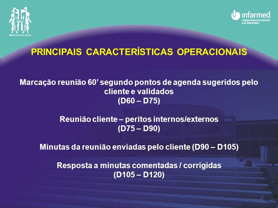 PRINCIPAIS CARACTERÍSTICAS OPERACIONAIS